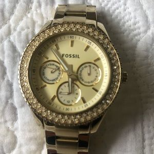 "Women's Gold Fossil ""Stella"" Watch"